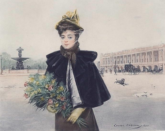 April Morning, Place de la Concorde, Louise Abbéma - 1894